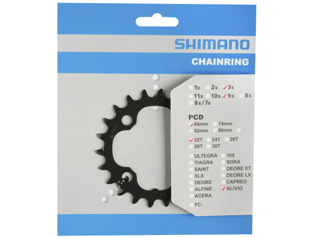 Shimano FC-M4000/M4050 Chainring 9-speed, grey